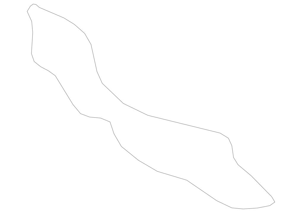 Curacao Outline Map