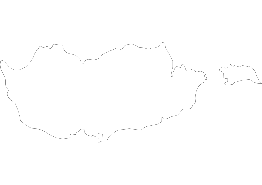 Cyprus Outline Map