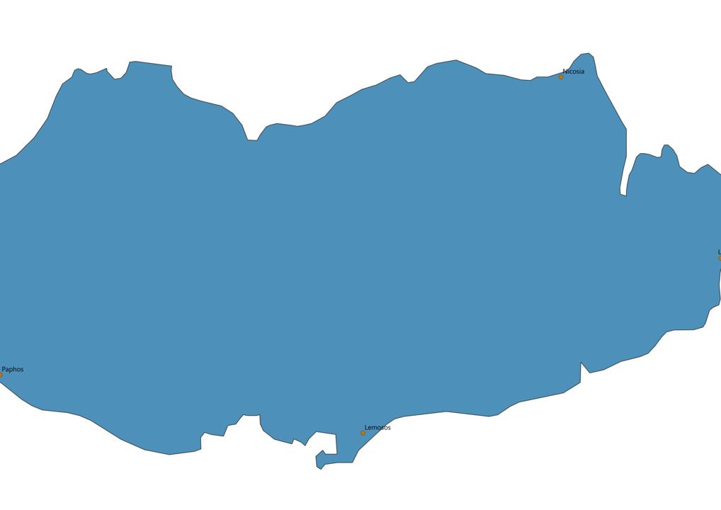 Cyprus Cities Map