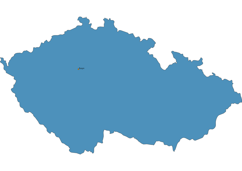 Map of Airports in Czech Republic