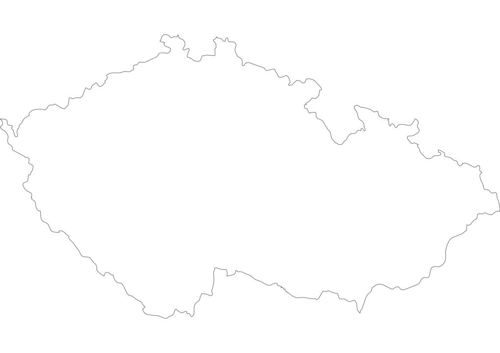 Czech Republic Outline Map