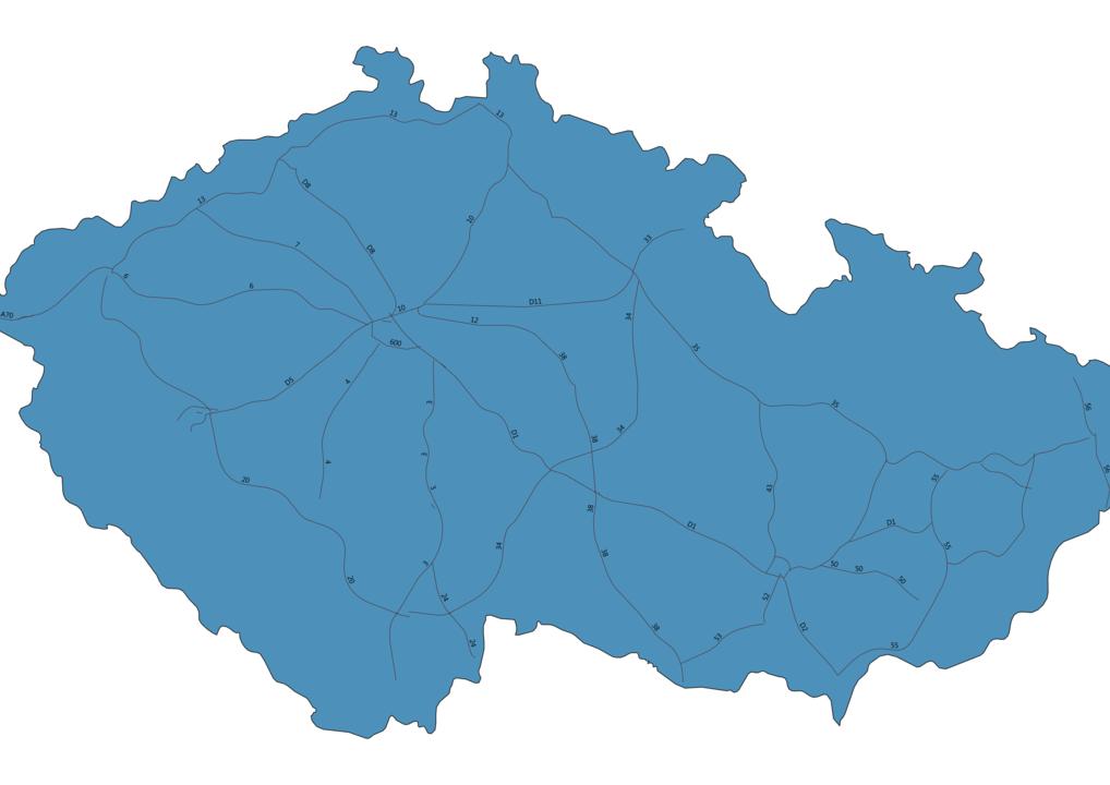Map of Roads in Czech Republic
