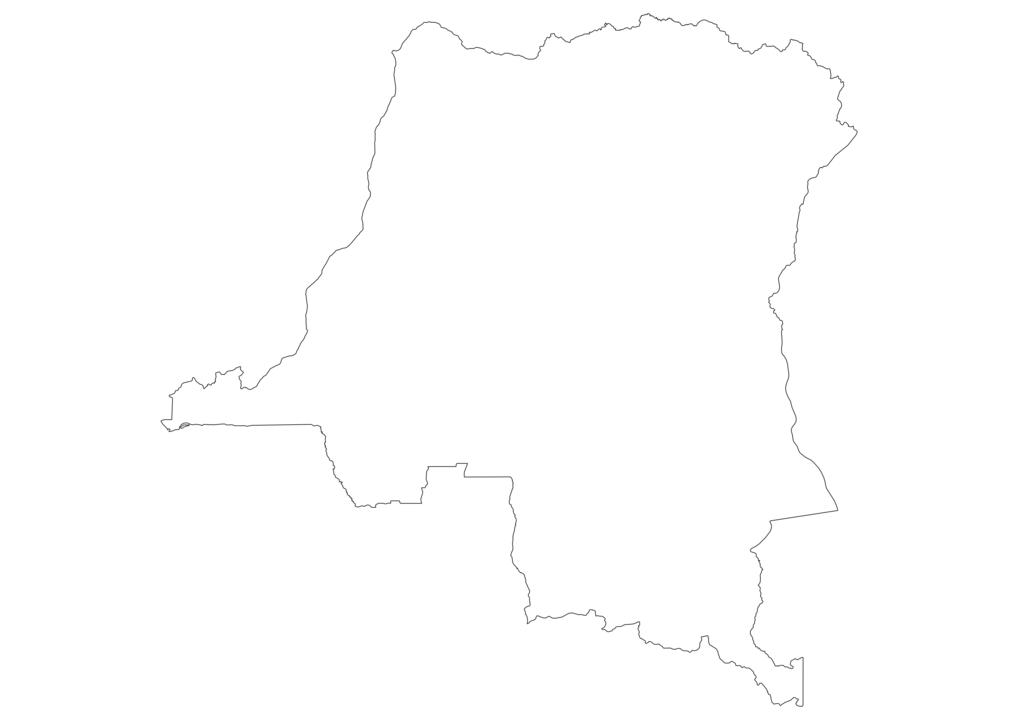 Democratic Republic of the Congo Outline Map