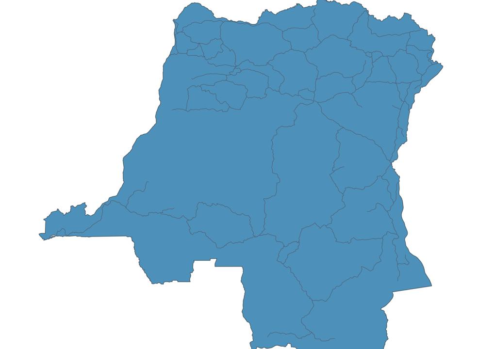 Map of Roads in Democratic Republic of the Congo