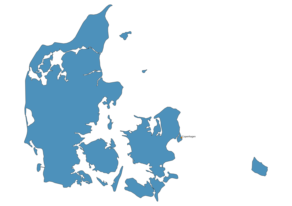Map of Airports in Denmark