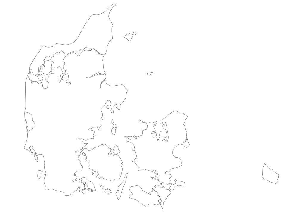 Denmark Outline Map