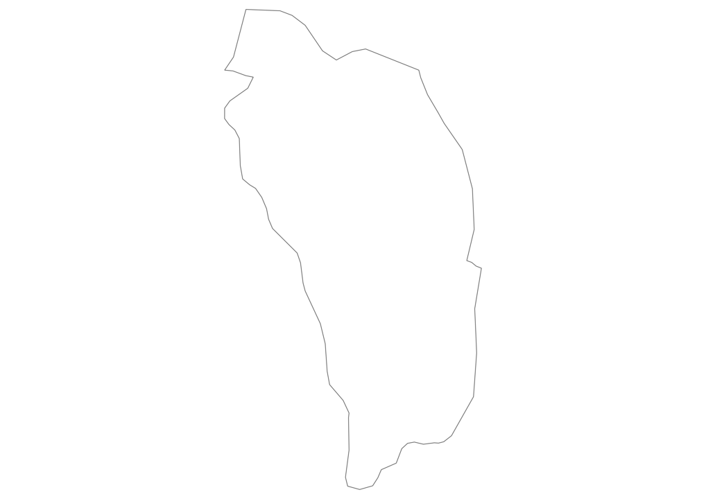 Dominica Outline Map