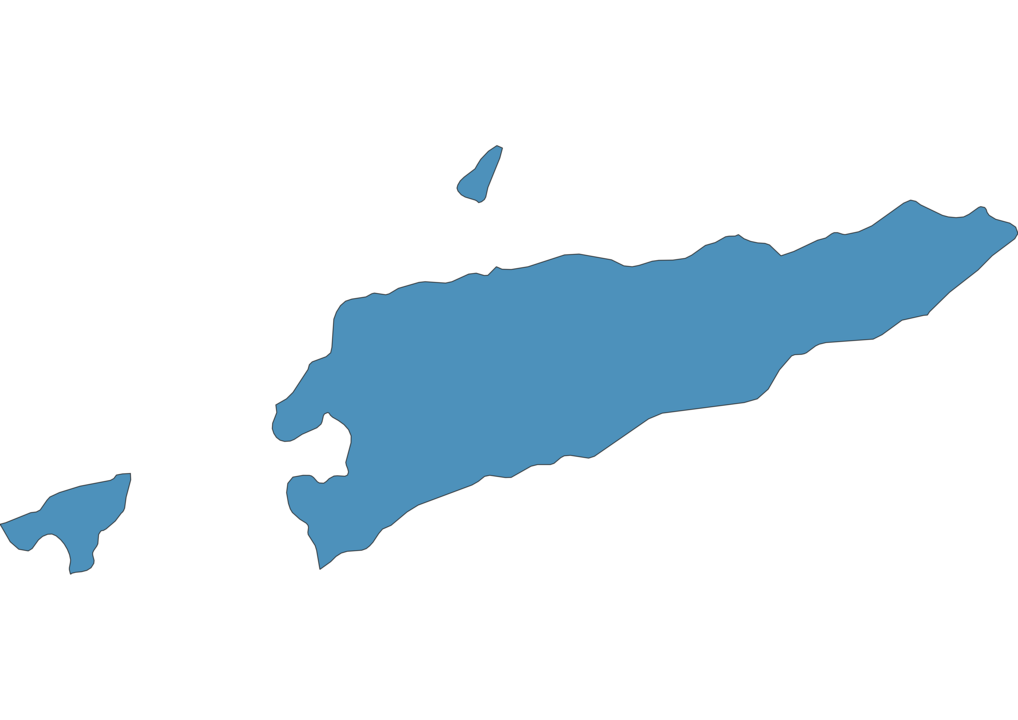 Map of Airports in East Timor