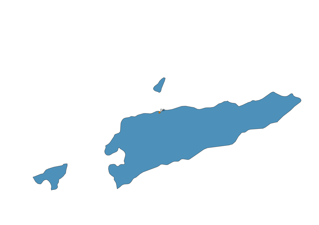 East Timor Cities Map