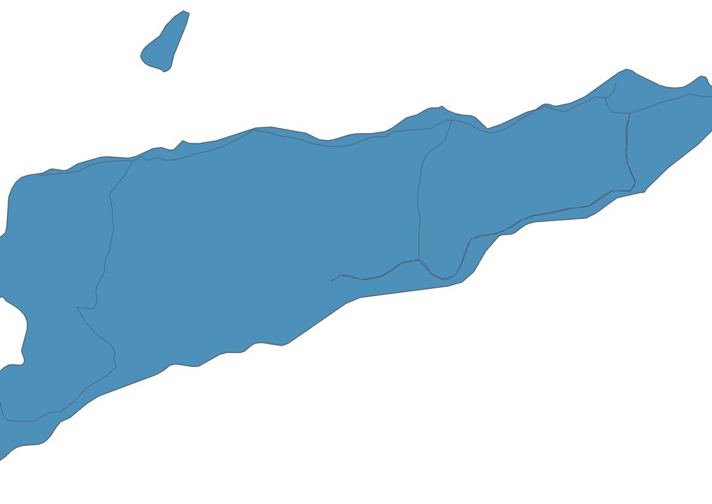 Map of Roads in East Timor