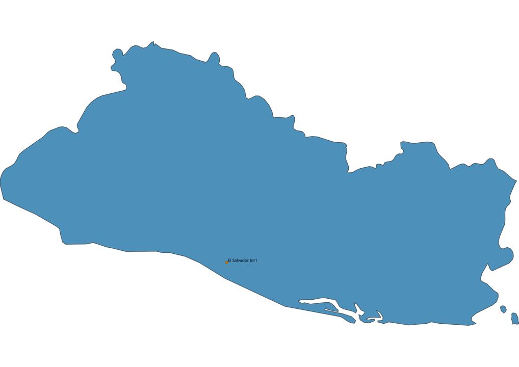 Map of Airports in El Salvador