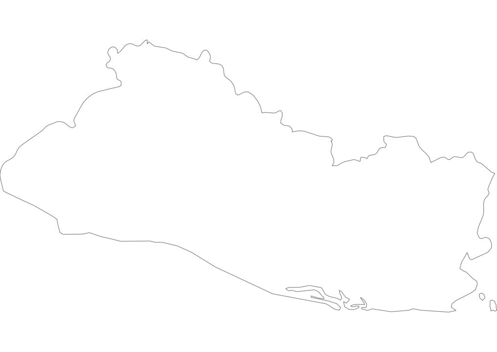 El Salvador Outline Map
