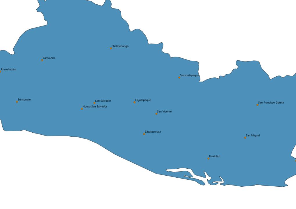 El Salvador Cities Map
