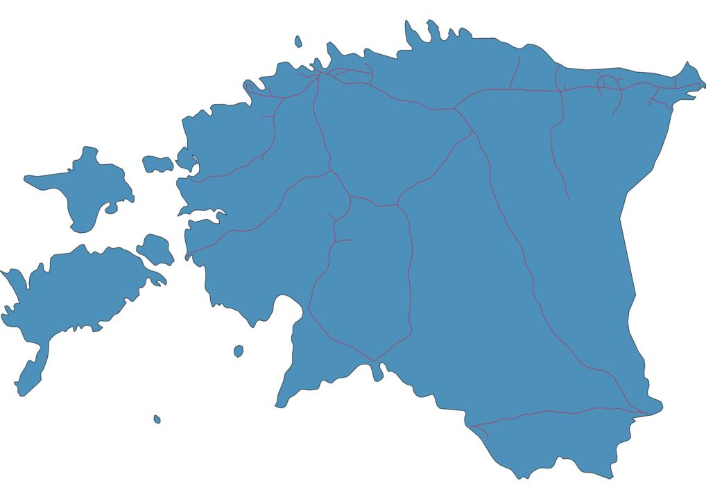 Estonia Railway Map