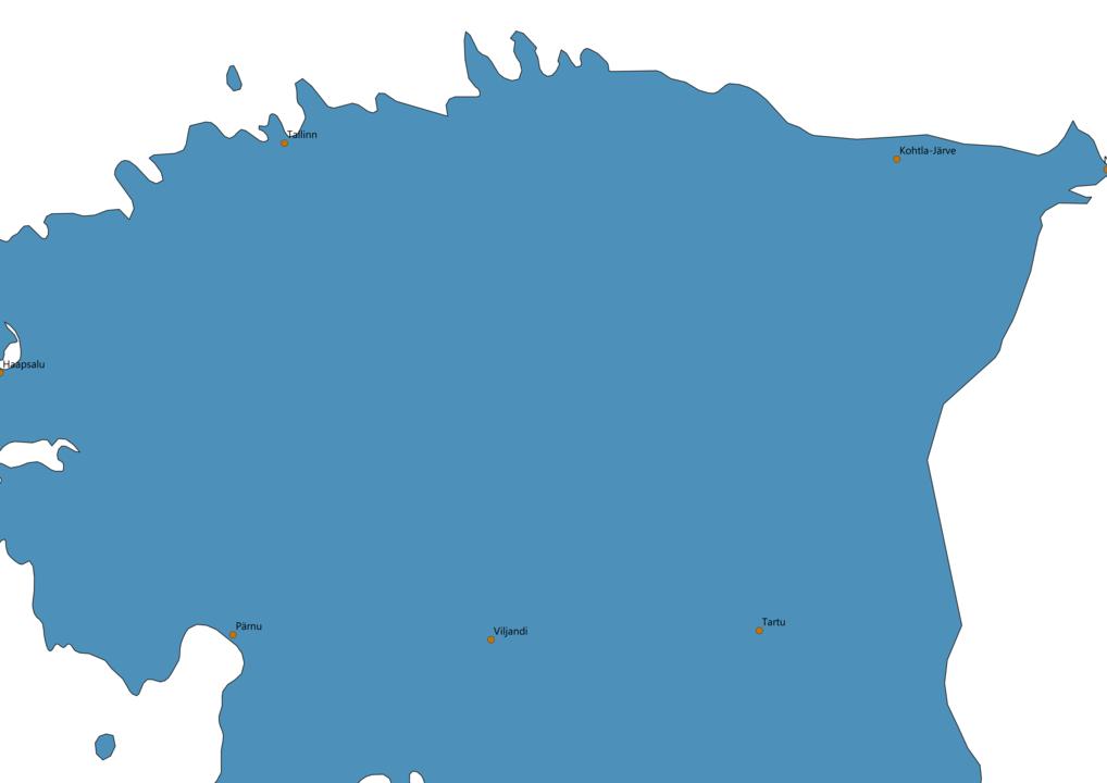 Estonia Cities Map