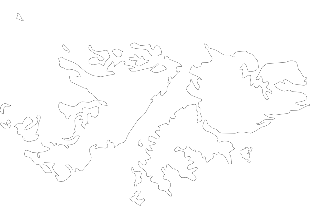 Falkland Islands Outline Map