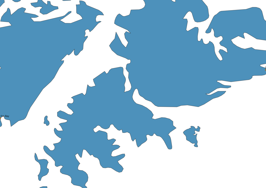 Falkland Islands Cities Map