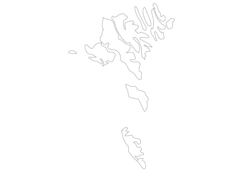 Faroe Islands Outline Map