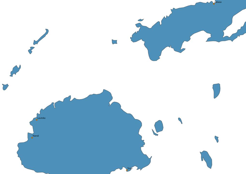 Fiji Cities Map