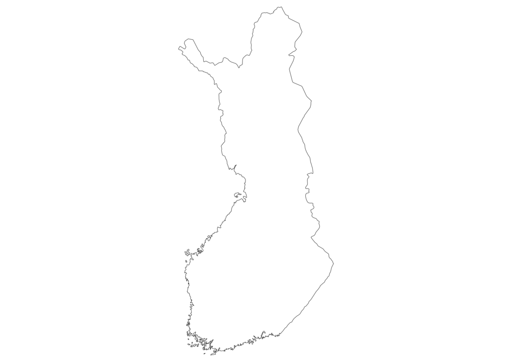 Finland Outline Map