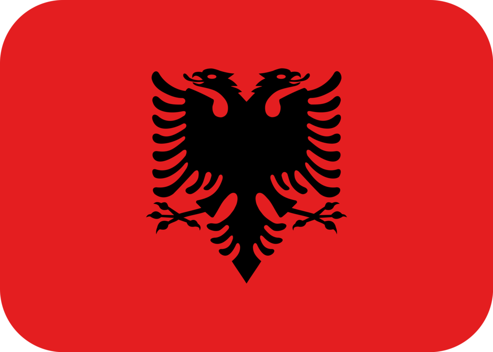 Albania flag with rounded corners