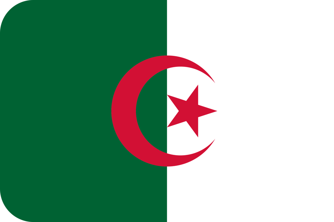Algeria flag with rounded corners