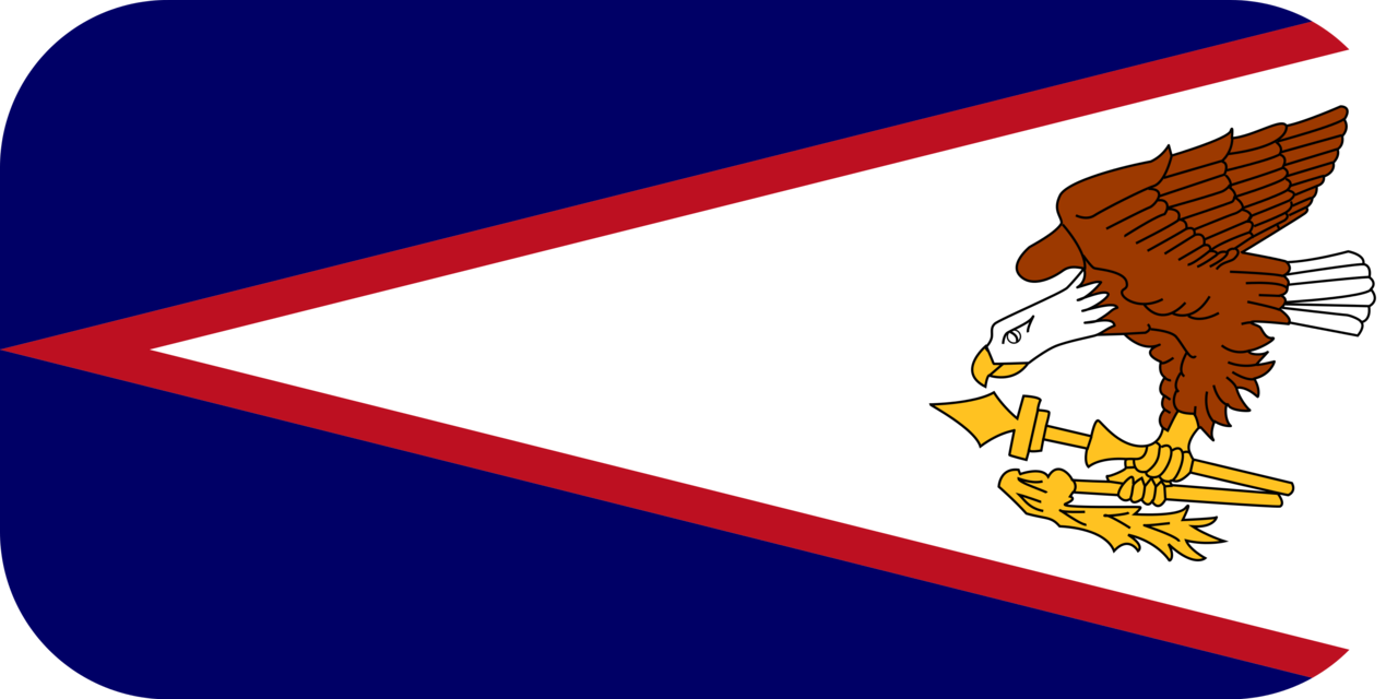American Samoa flag with rounded corners