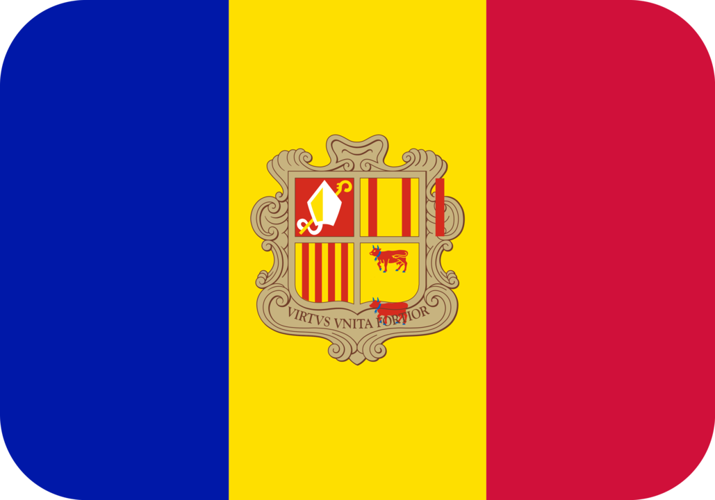 Andorra flag with rounded corners