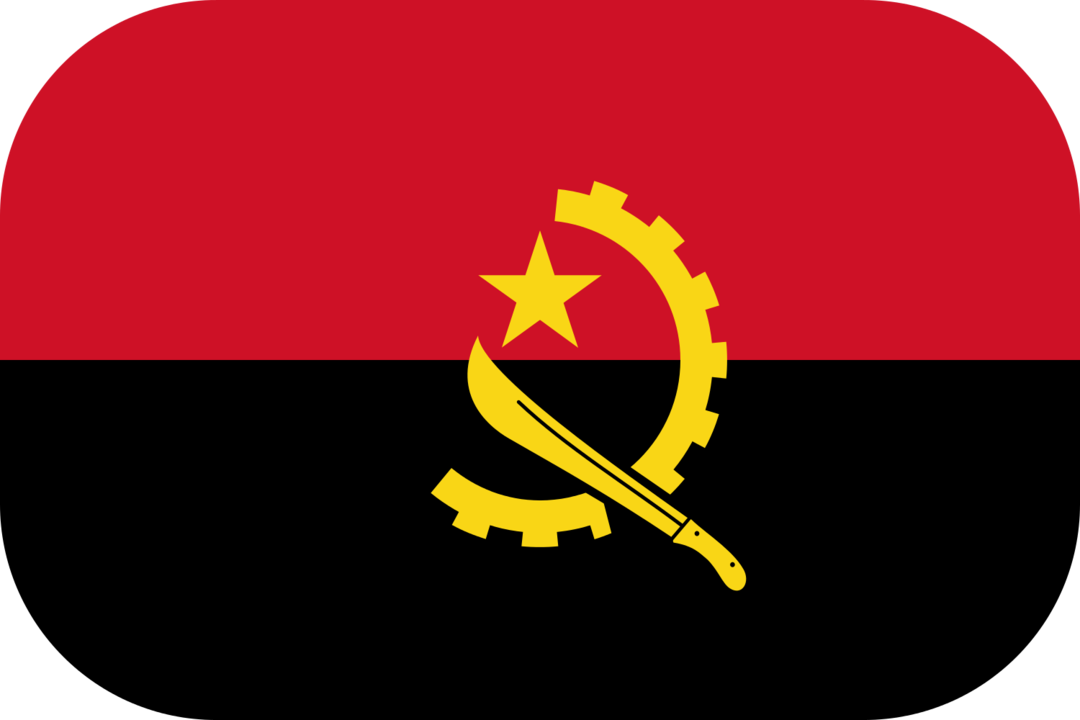 Angola flag with rounded corners