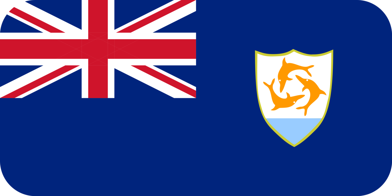 Anguilla flag with rounded corners
