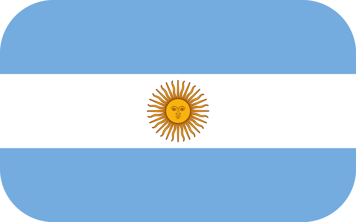 Argentina flag with rounded corners