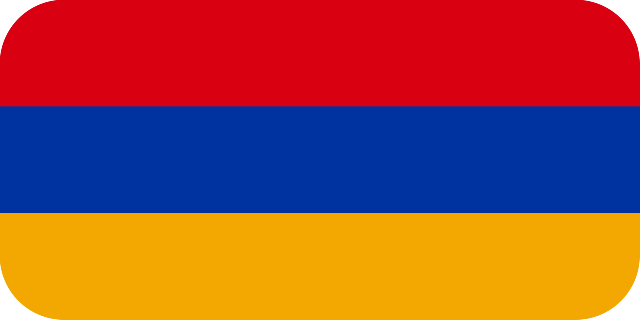 Armenia flag with rounded corners
