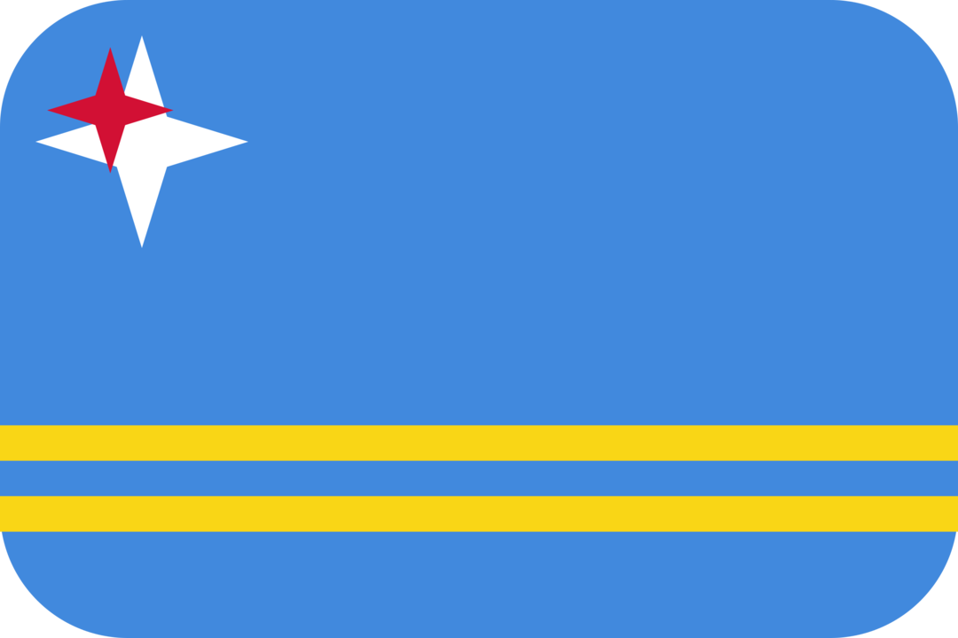 Aruba flag with rounded corners
