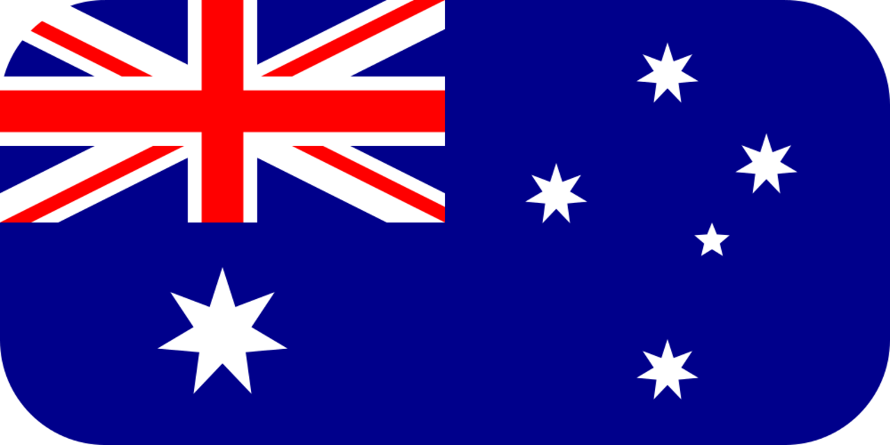 Australia flag with rounded corners