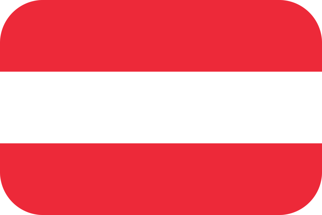 Austria flag with rounded corners