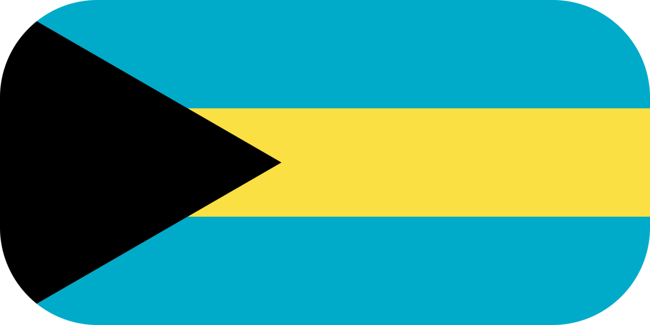 Bahamas flag with rounded corners