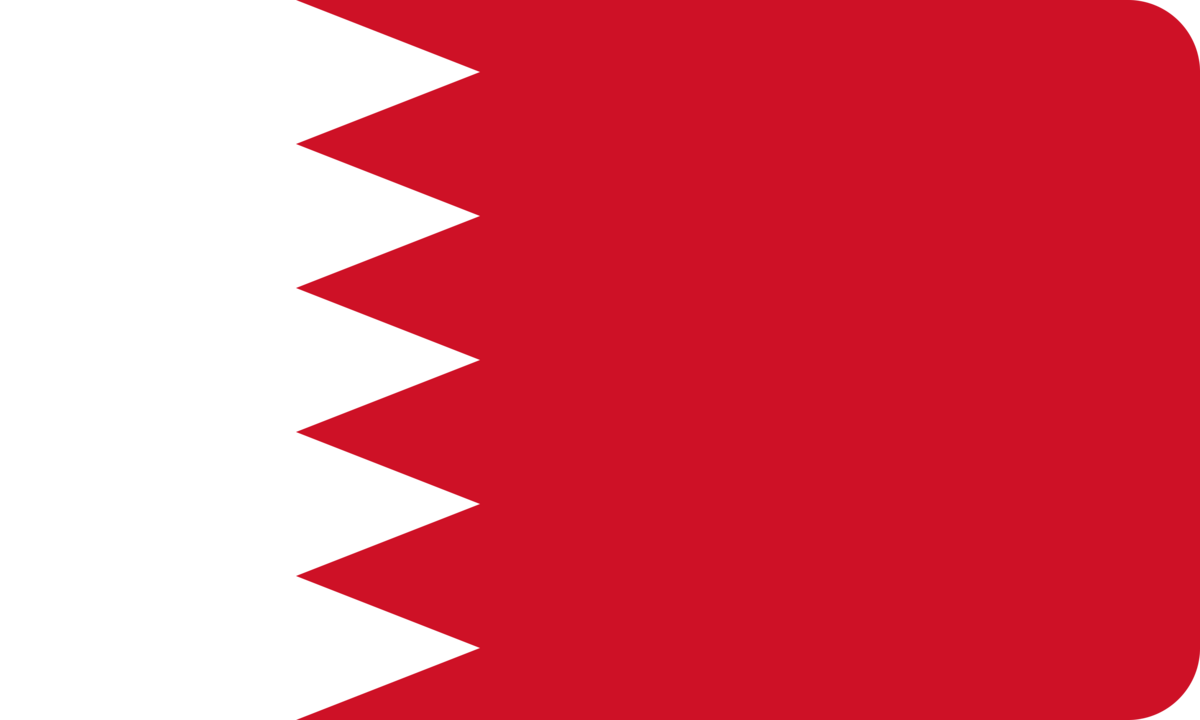 Bahrain flag with rounded corners
