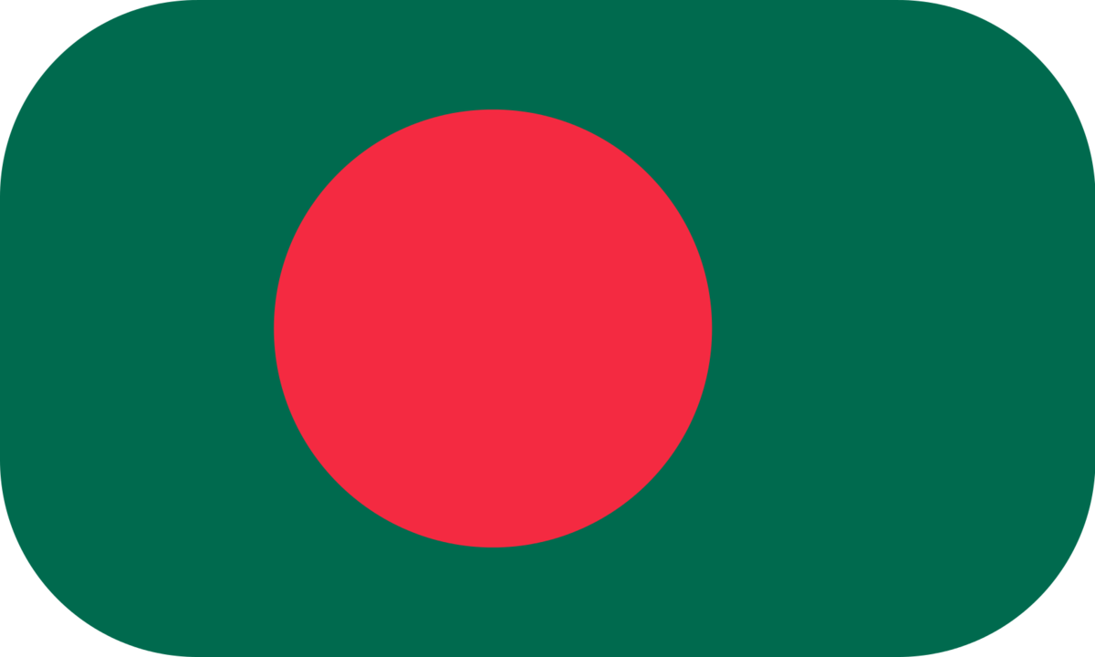 Bangladesh flag with rounded corners