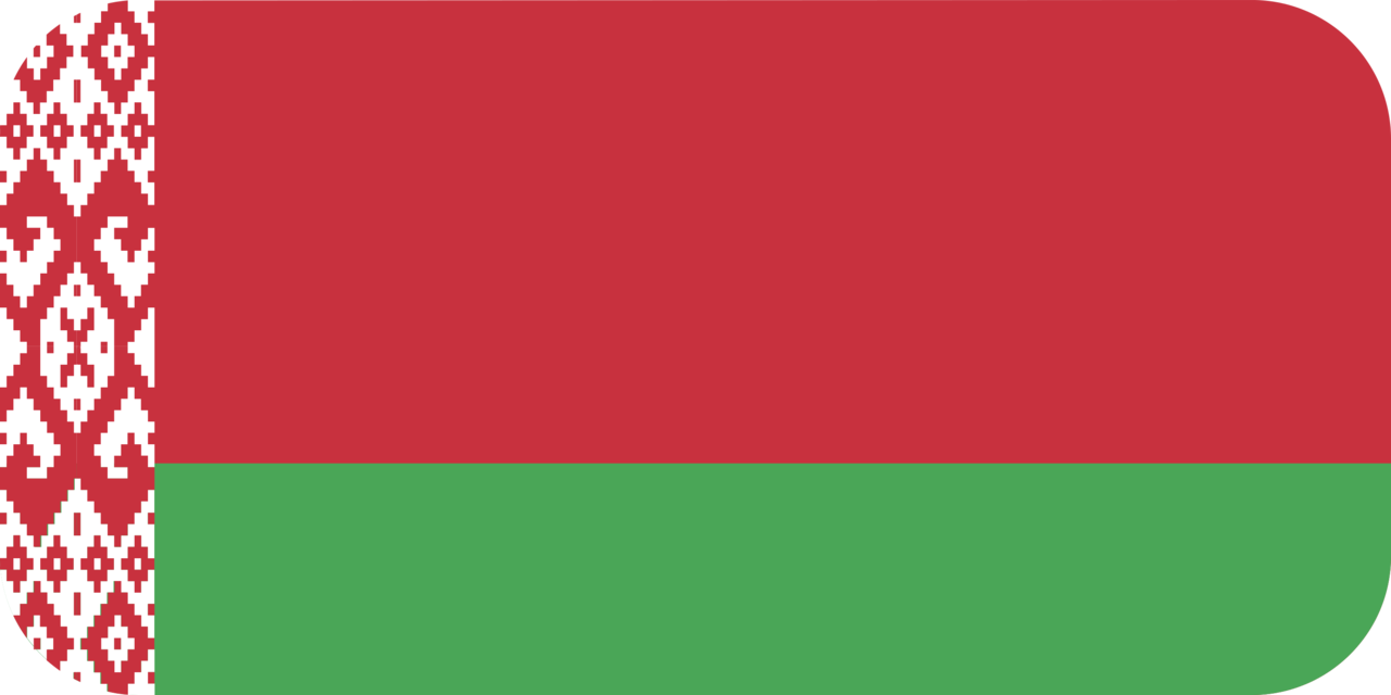 Belarus flag with rounded corners