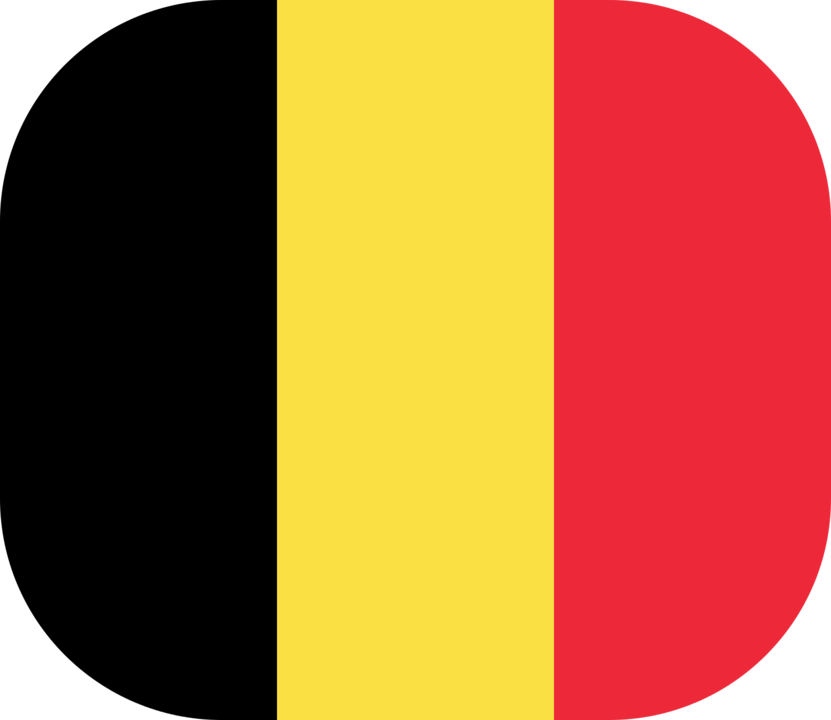 Belgium flag with rounded corners