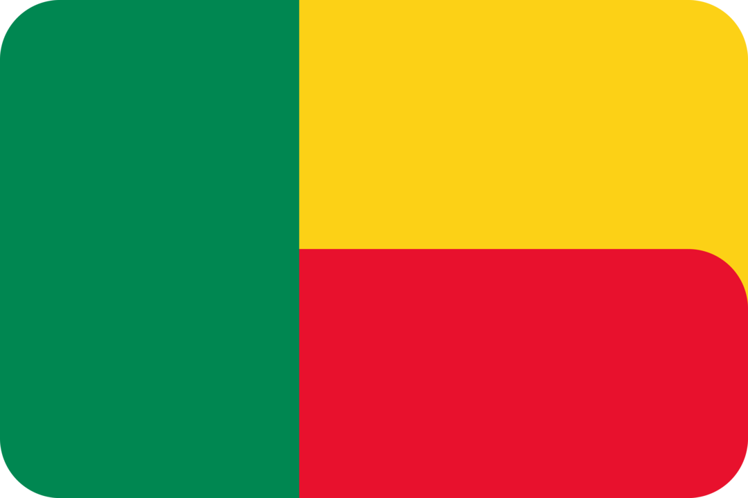 Benin flag with rounded corners
