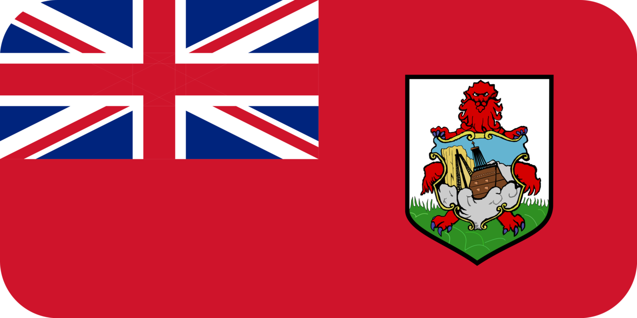 Bermuda flag with rounded corners