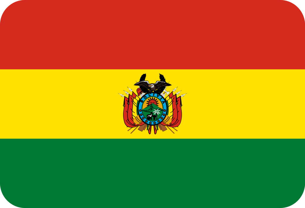 Bolivia flag with rounded corners