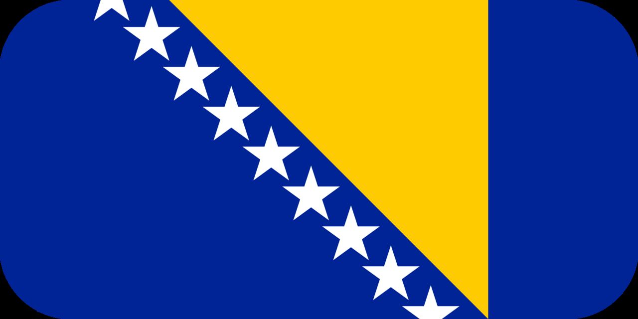 Bosnia and Herzegovina flag with rounded corners