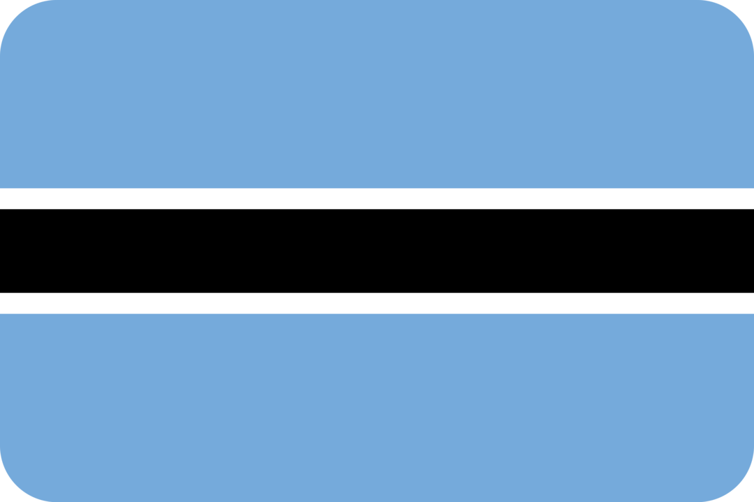 Botswana flag with rounded corners