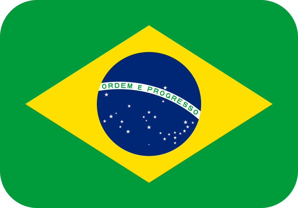 Brazil flag with rounded corners