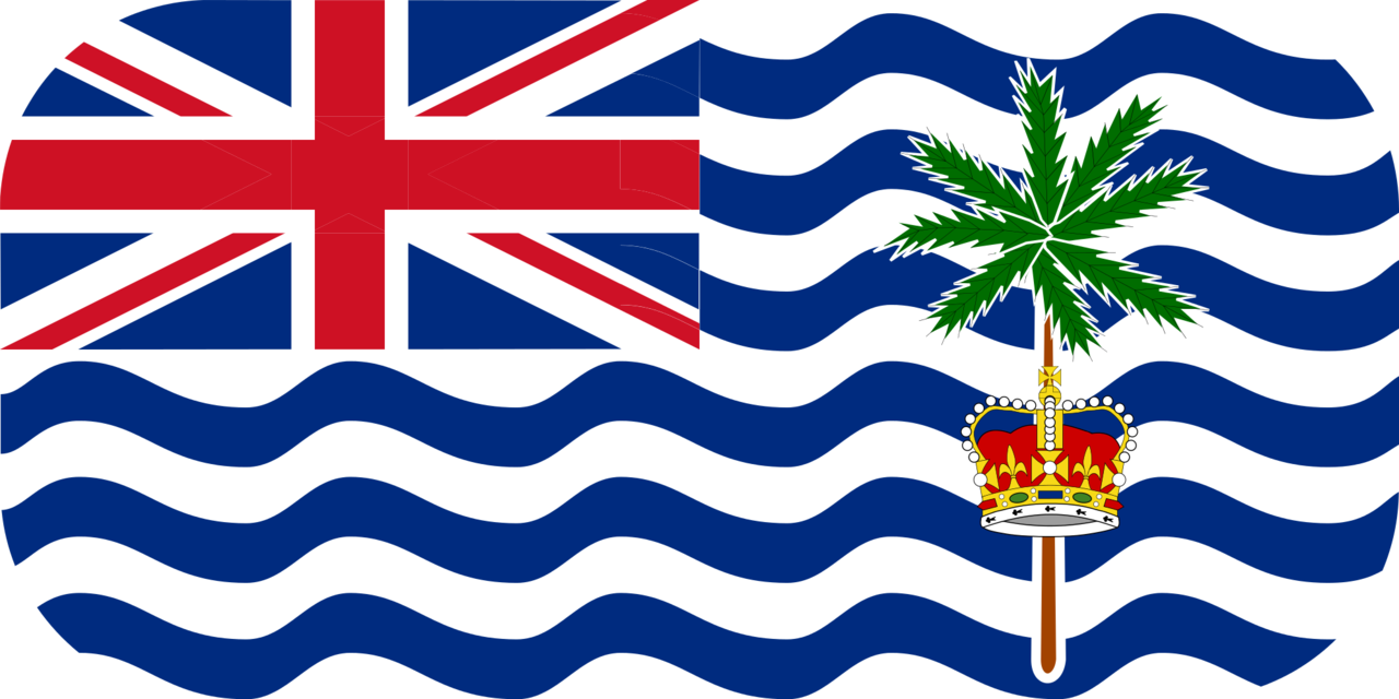 British Indian Ocean Territory flag with rounded corners