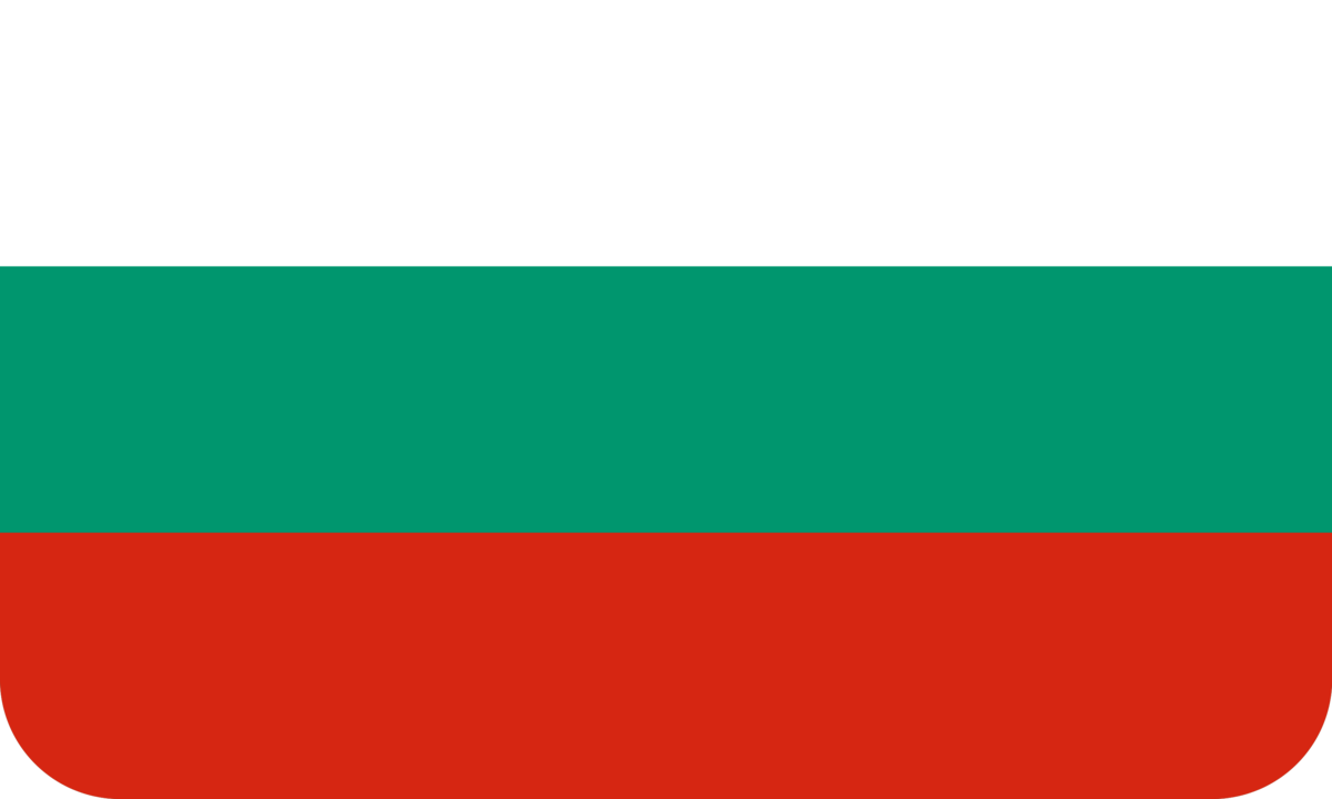Bulgaria flag with rounded corners