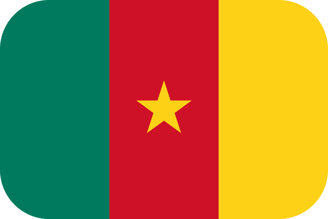 Cameroon flag with rounded corners