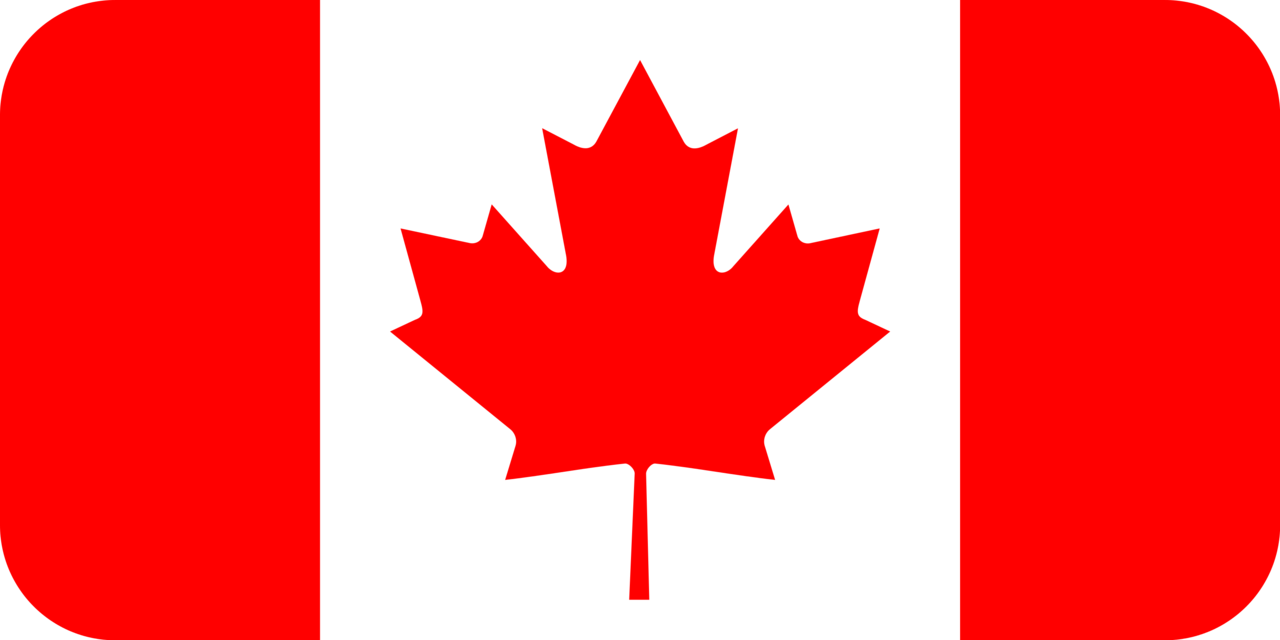 Canada flag with rounded corners